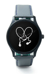 Wrist Watches India |I Love Music Earphones Premium Men Wrist WatchOnline India.