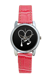 I Love Music Earphones Women Wrist Watch
