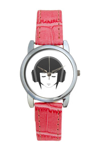 Music Lady Illustration Women Wrist Watch