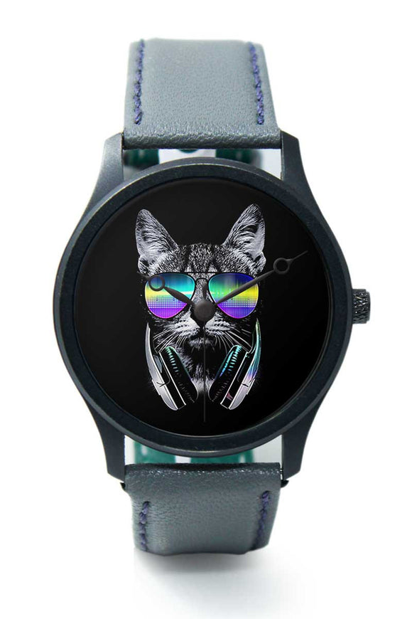 Wrist Watches India |Quirky Musical Cat Premium Men Wrist WatchOnline India.