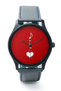 Wrist Watches India |Music is the key to heart Illustration Premium Men Wrist WatchOnline India.