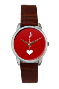 Music Is The Key To Heart Illustration Women Wrist Watch