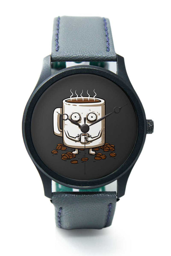 Wrist Watches India |Never Tired Coffee Illustration Premium Men Wrist WatchOnline India.