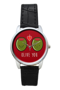 Olive You  Illustration Women Wrist Watch