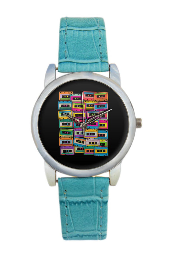 Retro Neon Music Jamm Women Wrist Watch