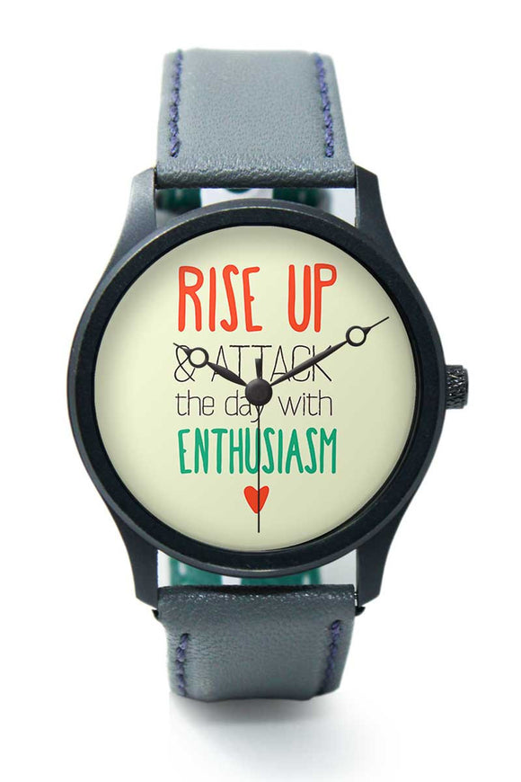 Wrist Watches India |Rise Up And Attack Typography Premium Men Wrist WatchOnline India.