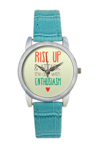 Rise Up And Attack Typography Women Wrist Watch