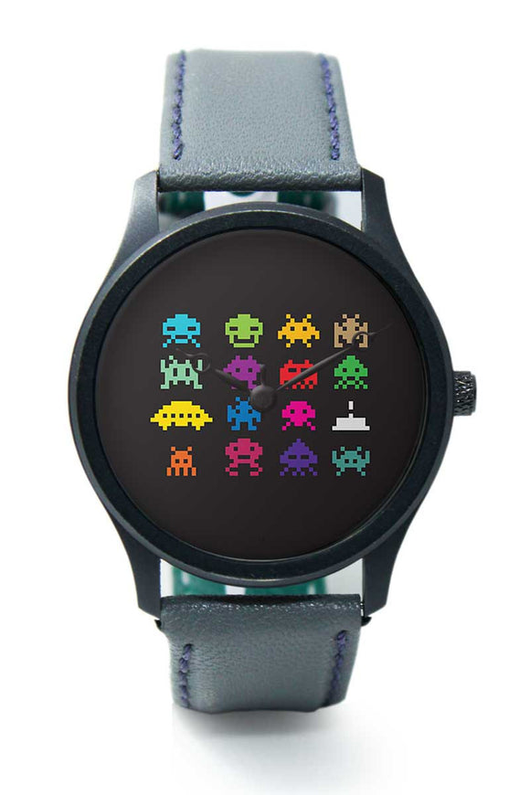 Wrist Watches India |8 bit creatures quirky Premium Men Wrist WatchOnline India.