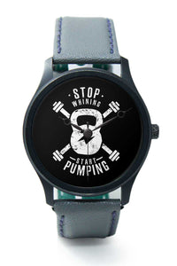 Wrist Watches India |Stop Wishing Motivational illustration Premium Men Wrist WatchOnline India.