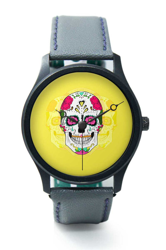Wrist Watches India |Yellow Skull Premium Men Wrist WatchOnline India.