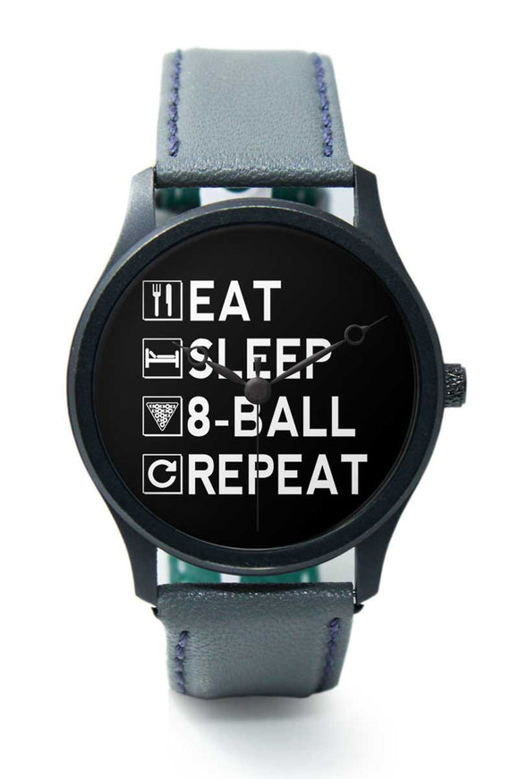 Wrist Watches India |Eat, Sleep, Pool, Repeat | Typography  Premium Men Wrist WatchOnline India.