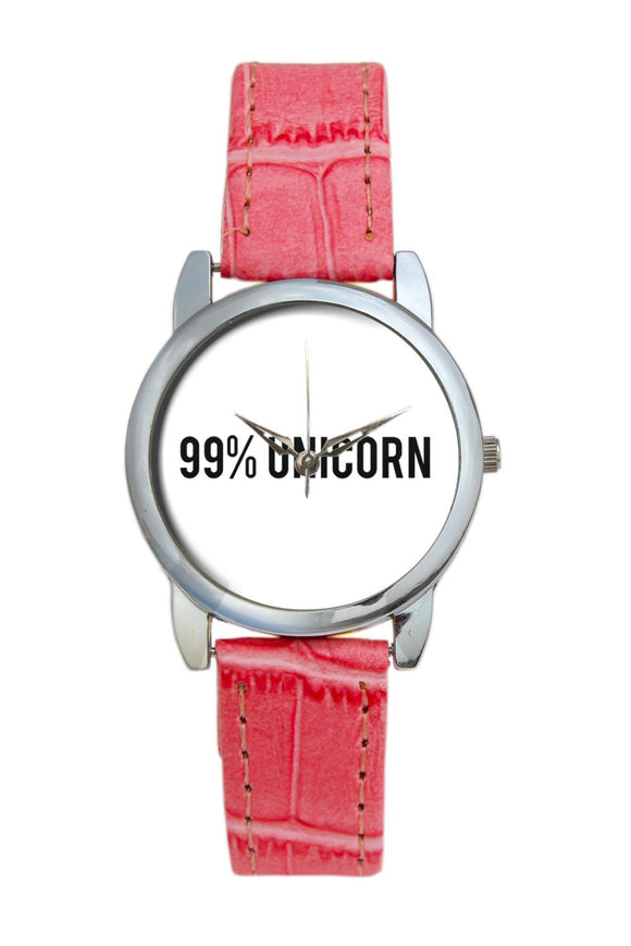 99% Unicorn | Typography  Women Wrist Watch