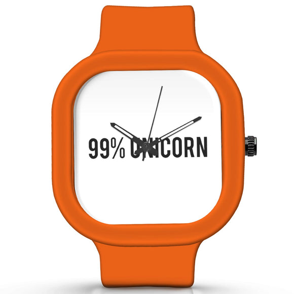 Unisex Men And Women Wrist Watch India | 99% Unicorn | Typography Waterproof Silicone Unisex Wrist Watch For Men And Women  Online India
