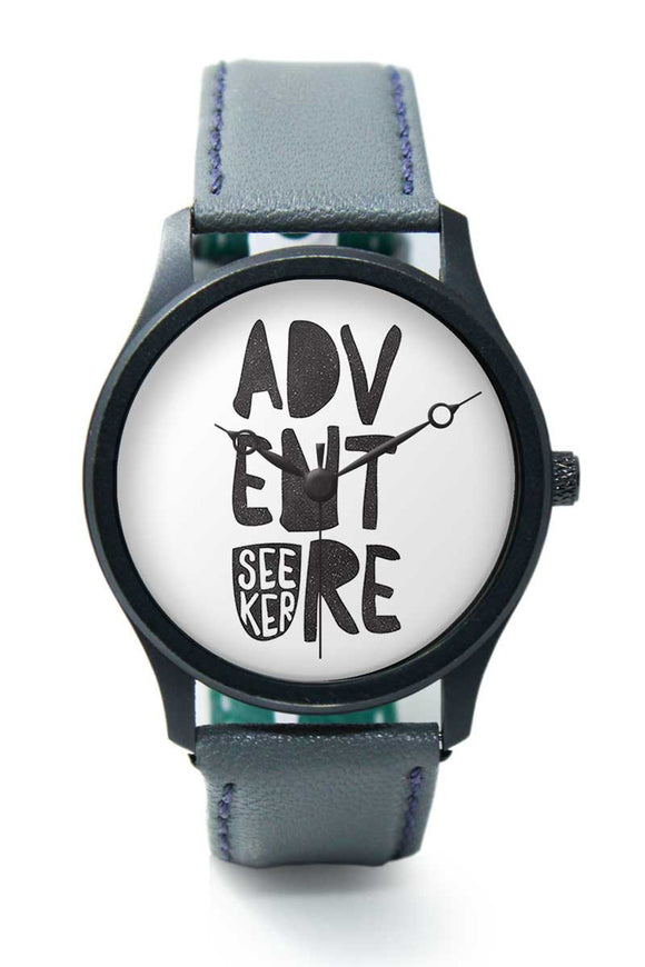 Wrist Watches India |Adventure Seeker Travel Quote  Premium Men Wrist WatchOnline India.