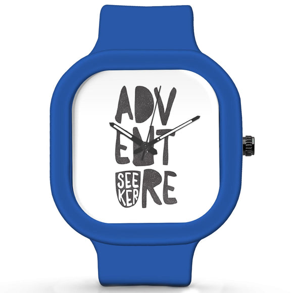 Unisex Men And Women Wrist Watch India | Adventure Seeker Travel Quote Waterproof Silicone Unisex Wrist Watch For Men And Women  Online India