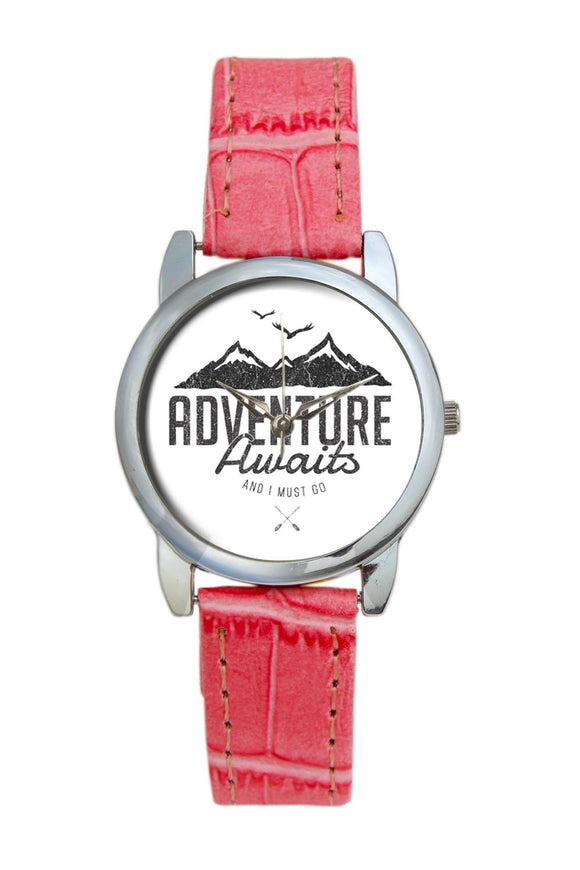 Adventure Awaits Travel Quote  Women Wrist Watch
