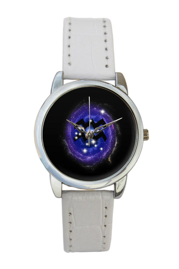 Aquarius Zodiac Minimal Illustration  Women Wrist Watch