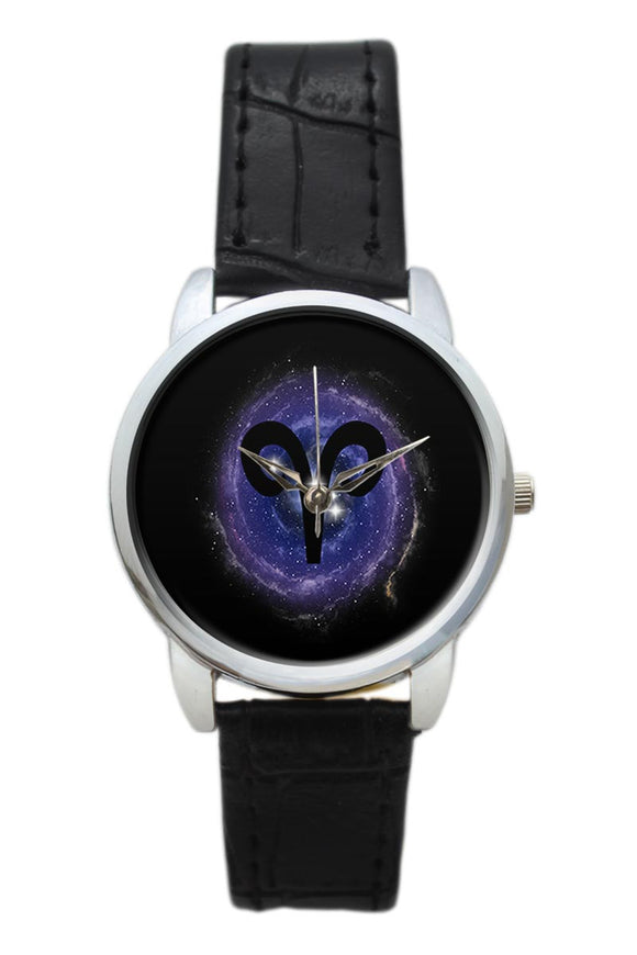 Aries Zodiac Minimal Illustration  Women Wrist Watch