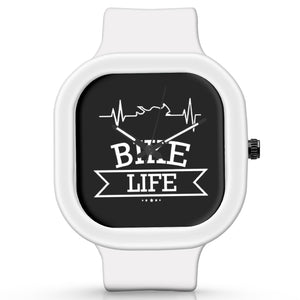 Unisex Men And Women Wrist Watch India |  Bike Life Minimal   Silicone Square Unisex Wrist Watch Online India