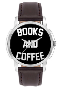 Wrist Watches India | Books And Coffee Typography  Wrist Watch Online India.