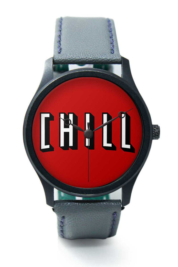Wrist Watches India |Chill Minimal Typography  Premium Men Wrist WatchOnline India.