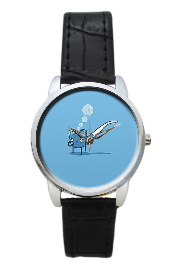 Thinking About Cigarette Quirky Cigar Illustration  Women Wrist Watch