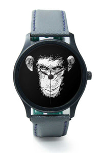Wrist Watches India |Clever Monkey Minimal Illustration  Premium Men Wrist WatchOnline India.