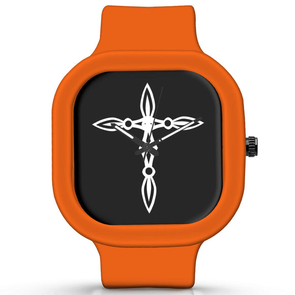 Unisex Men And Women Wrist Watch India | Cross Minimal Illustration Waterproof Silicone Unisex Wrist Watch For Men And Women  Online India