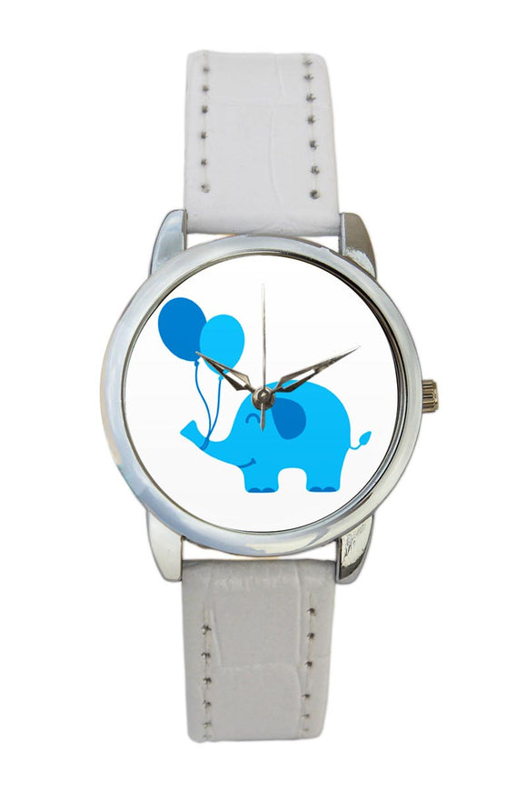 Blue Elephant Illustration  Women Wrist Watch