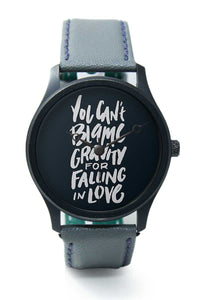 Wrist Watches India |Falling In Love Typography  Premium Men Wrist WatchOnline India.