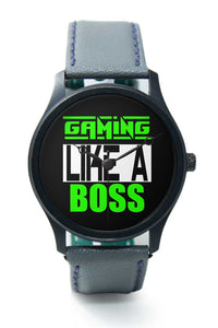 Wrist Watches India |Gaming Like A Boss Typography  Premium Men Wrist WatchOnline India.
