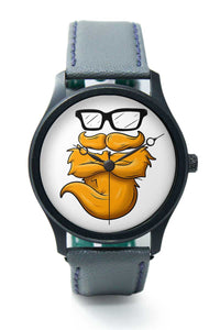 Wrist Watches India |Golden Beard Quirky Illustration  Premium Men Wrist WatchOnline India.