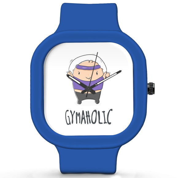 Unisex Men And Women Wrist Watch India | Gymaholic Cute Illustration Waterproof Silicone Unisex Wrist Watch For Men And Women  Online India