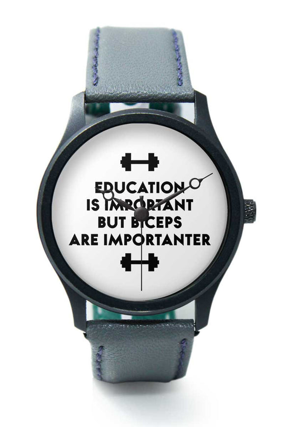 Wrist Watches India |Biceps Are Importanter Gym Quirky Typography  Premium Men Wrist WatchOnline India.