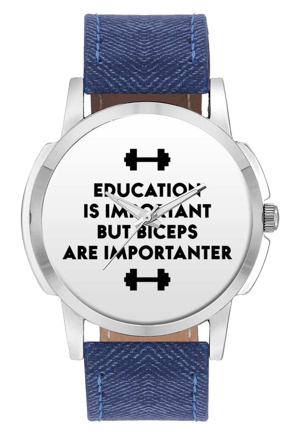 Wrist Watches India | Biceps Are Importanter Gym Quirky Typography  Wrist Watch Online India.