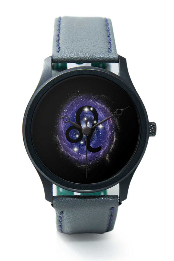 Wrist Watches India |Leo Zodiac Minimal Illustration  Premium Men Wrist WatchOnline India.