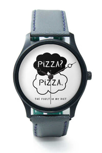 Wrist Watches India |Pizza | The Fault In My Diet Quirky Premium Men Wrist WatchOnline India.