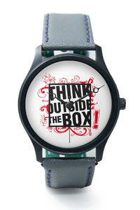 Wrist Watches India |Think Outside The Box Quirky Illustration  Premium Men Wrist WatchOnline India.