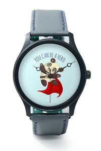 Wrist Watches India |You Can Be A Hero Cute Panda Illustration Premium Men Wrist WatchOnline India.
