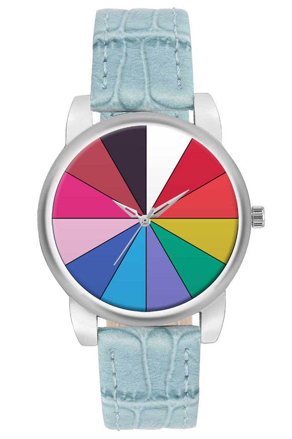 Colorful Geometric Circle Women Wrist Watch