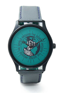 Wrist Watches India |Lets Go Travel (white) Premium Men Wrist WatchOnline India.