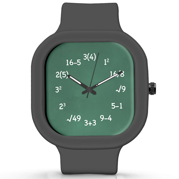 Unisex Men And Women Wrist Watch India |  Maths   Silicone Square Unisex Wrist Watch Online India