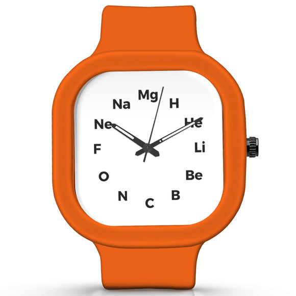 Unisex Men And Women Wrist Watch India |  Chemistrty   Silicone Square Unisex Wrist Watch Online India