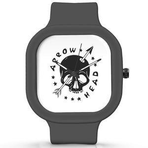 Unisex Men And Women Wrist Watch India |  Arrowhead Analog  Silicone Square Unisex Wrist Watch Online India