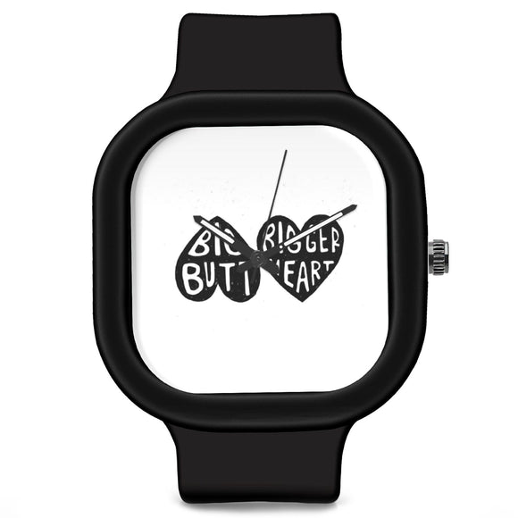 Unisex Men And Women Wrist Watch India |  Big Butt Bigger Heart Analog  Silicone Square Unisex Wrist Watch Online India