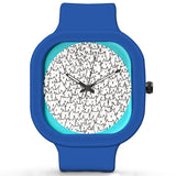 Unisex Men And Women Wrist Watch India |  Cute Cat Faces Analog  Silicone Square Unisex Wrist Watch Online India