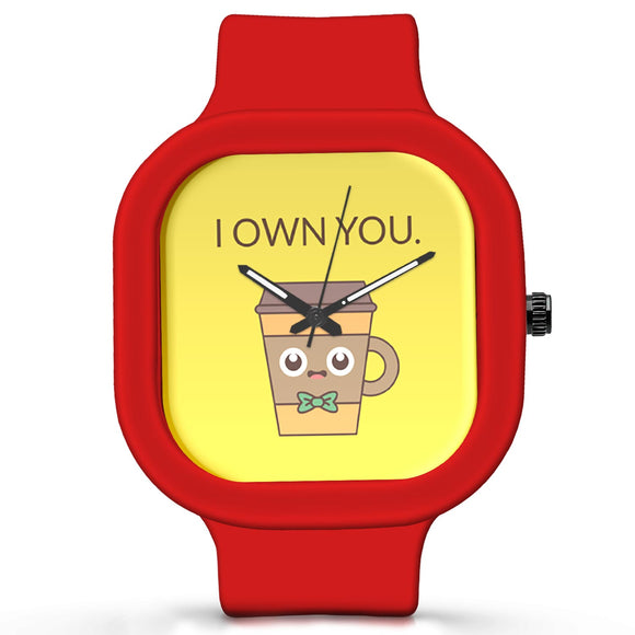Unisex Men And Women Wrist Watch India |  I Own You Analog  Silicone Square Unisex Wrist Watch Online India
