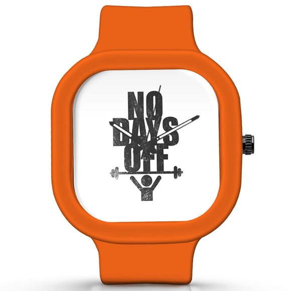 Unisex Men And Women Wrist Watch India |  No Days Off Analog  Silicone Square Unisex Wrist Watch Online India