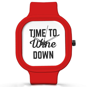 Unisex Men And Women Wrist Watch India |  Time To Wine Down Analog  Silicone Square Unisex Wrist Watch Online India