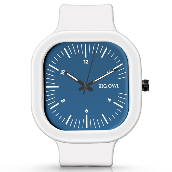 Unisex Men And Women Wrist Watch India | Basic BlueSilicone Square Unisex Wrist Watch Online India